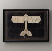 Model G Airplane Blueprint - Wall Art - Restoration ...