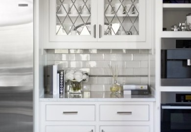 Kitchen Cabinets Leaded Glass Doors