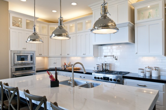 Harmon Pendant  Transitional  kitchen  Candlelight Homes