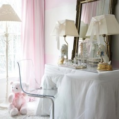 Vanity With Mirror And Chair Farmhouse Table Chairs Set Ghost Ikea - Contemporary Girl's Room Atlanta Homes & Lifestyles