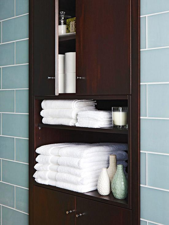 Built In Bathroom Cabinet  Contemporary  bathroom  BHG