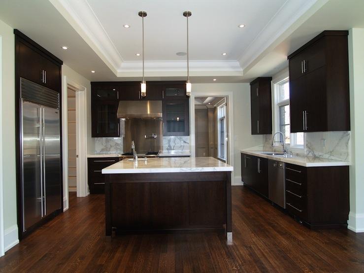 Espresso Kitchen Cabinets  Contemporary  kitchen  Designer Friend