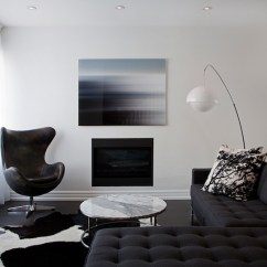 Coffee Table Size For Sectional Sofa Leather Black And White Tufted - Contemporary Living Room Benjamin ...