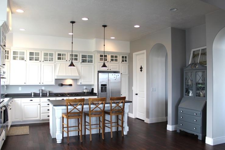 Gray Wall Paint Transitional Kitchen Benjamin Moore