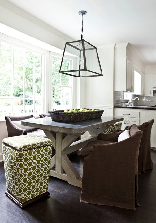 Concrete Dining Table  Transitional  dining room