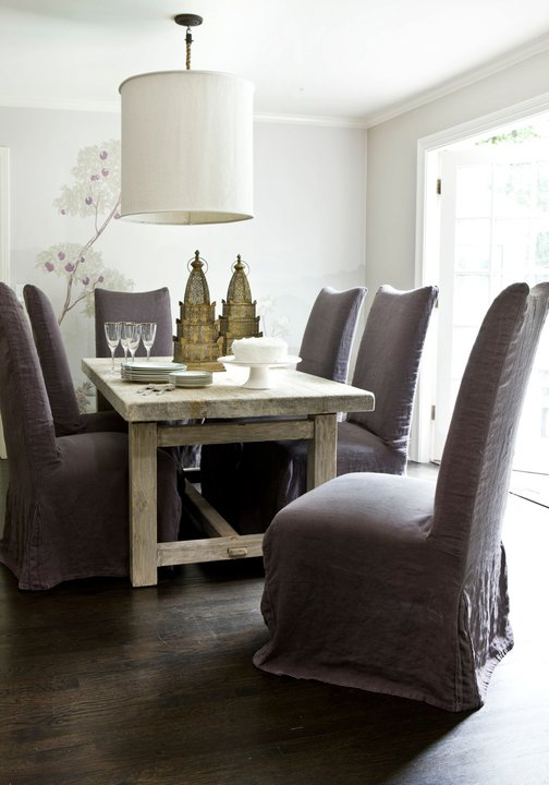 Slipcovered Dining Chairs Design Ideas