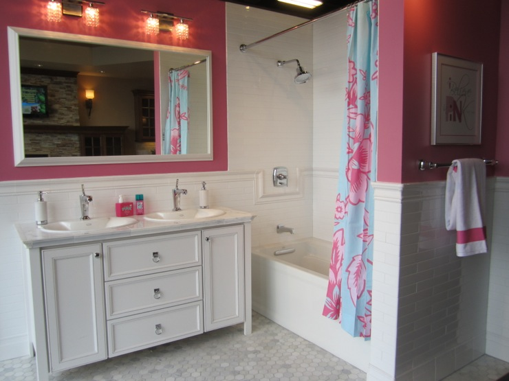 Pink Girls Bathroom  Contemporary  bathroom