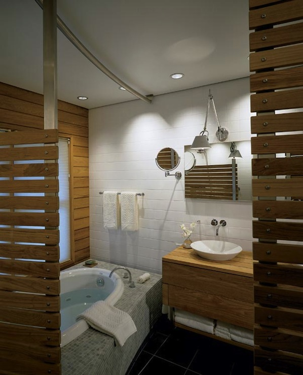 Teak Bathroom  Contemporary  bathroom  Hutker Architects