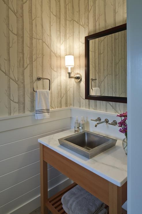 Metal Vessel Sink  Contemporary  bathroom  Hutker Architects