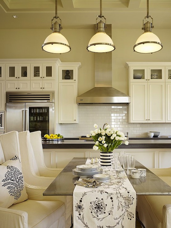 Country Industrial Pendants 0 Transitional  kitchen  DeCesare Design Group