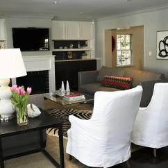 White Slipcovered Sofa Living Room Tile Design Ideas High Back Sofas Contemporary Sally Wheat Interiors