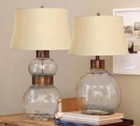 Julian Glass Table & Bedside Lamp - Pottery Barn