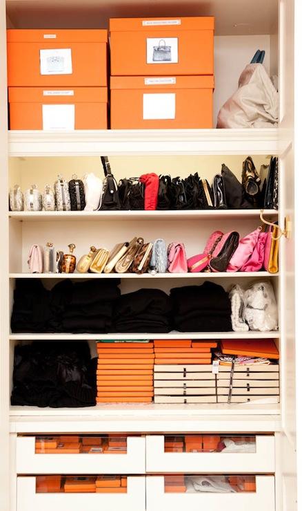 Shelves for Bags  Contemporary  closet  The Coveteur
