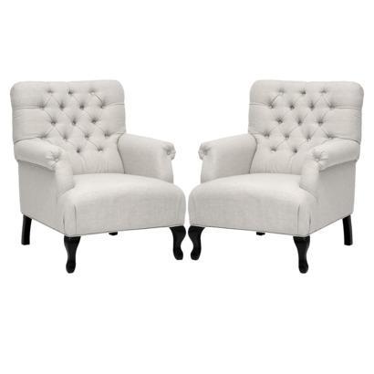 target club chair office master set of 2 medium size joussard linen