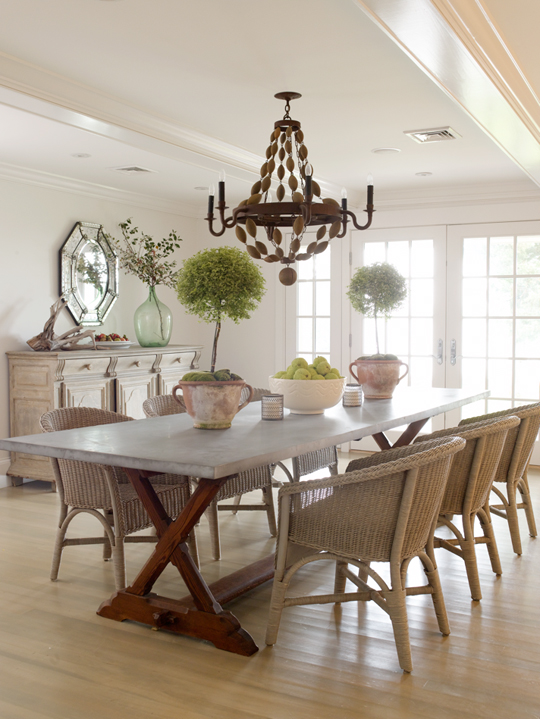 Wicker Dining Chairs  Cottage  dining room  Orrick and