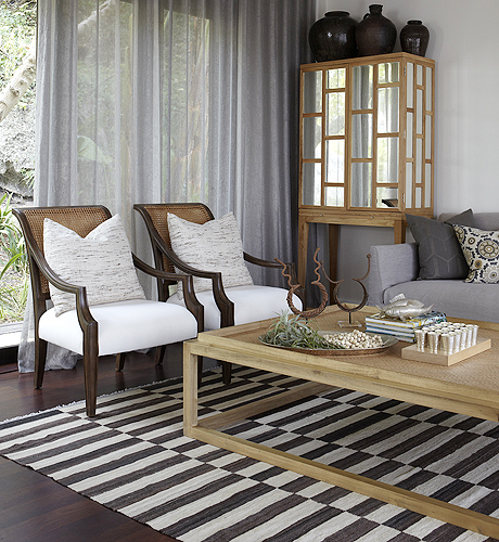 gray linen tufted sofa comfortable sleeper sofas mirrored walls - contemporary den/library/office ...