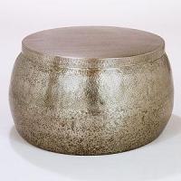 Cala Hammered Coffee Table - Living Room Furniture ...