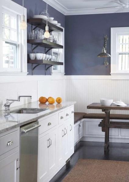 dark navy blue kitchen walls Navy Blue Kitchen Cabinets - Design, decor, photos