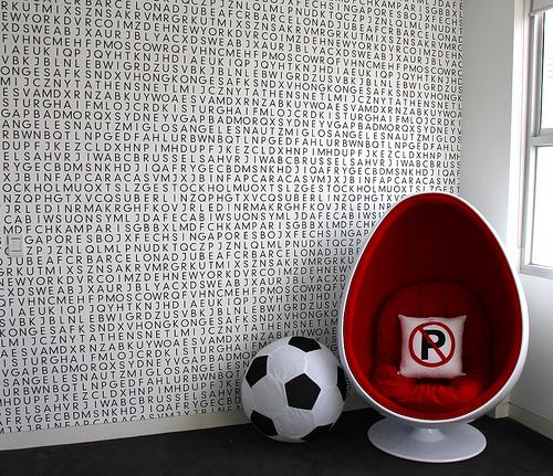 Alphabet Wallpaper  Contemporary  boys room