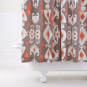 GreyCoral Ikat Shower Curtain Bathroom Bed Amp Bath World Market