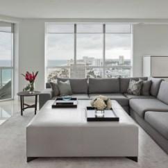 Oversized Sectional Sofas Diamond Sofa Cloud Living Room - Benjamin Moore Decorator White
