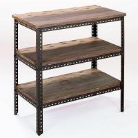 3-Shelf Industrial Metal Shelf - Home Office Furniture ...