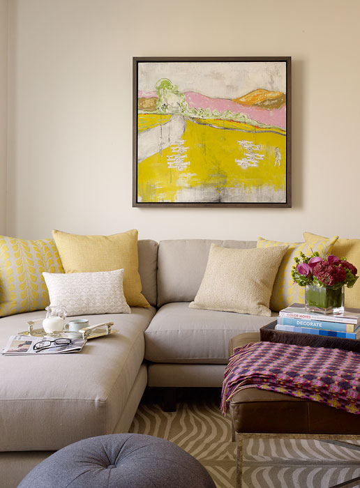 Gray and Yellow Room  Contemporary  living room  Haus