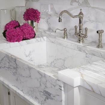 narrow kitchen countertops cabinet pantry white marble design ideas