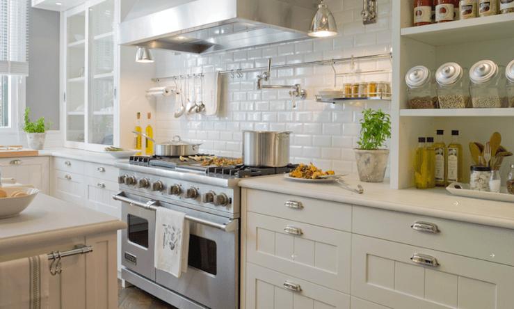 beveled subway tile kitchen brushes backsplash transitional deulonder