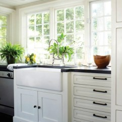 Black Kitchen Cabinet Pulls Cost To Remodel A With No Upper Cabinets Cottage New England Home