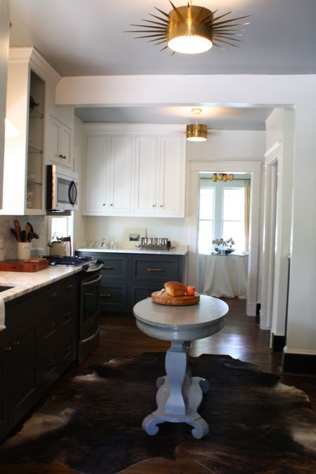 White Upper Cabinets Dark Lower Cabinets  Contemporary  kitchen  Sherwin Williams Magnetic