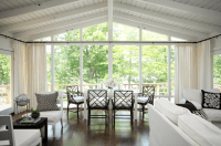Floor to Ceiling Windows - Transitional - dining room ...