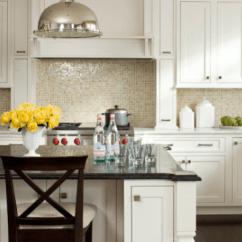 Industrial Kitchen Backsplash Table Placemats Oceanside Tile Tessera - Transitional Lauren ...