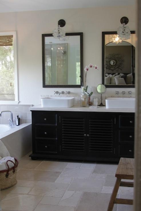 White Soapstone  Transitional  bathroom  Greige Design