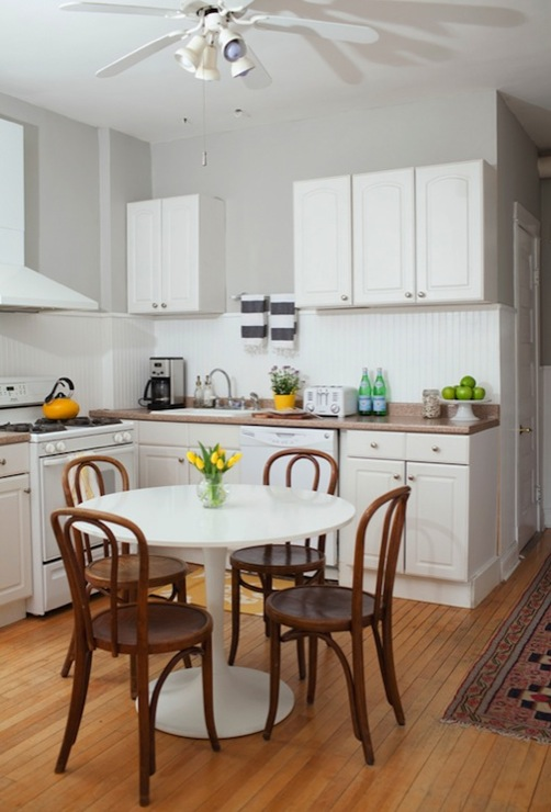 Bentwood Chairs  Transitional  kitchen  Behr Dolphin
