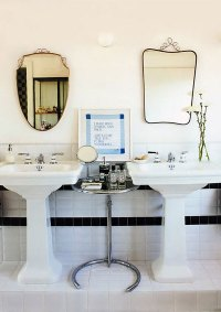 His And Her Pedestal Sinks Design Ideas