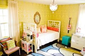yellow natalie damask rooms clayman interior designer sherwin williams wall decor pink decorpad scheme alert cool pad fun colors funky