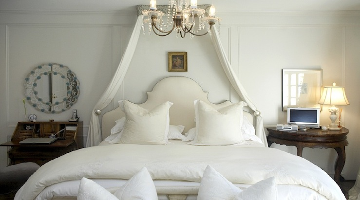 French Bed Canopy  French  bedroom  Lucinda Loya Interiors