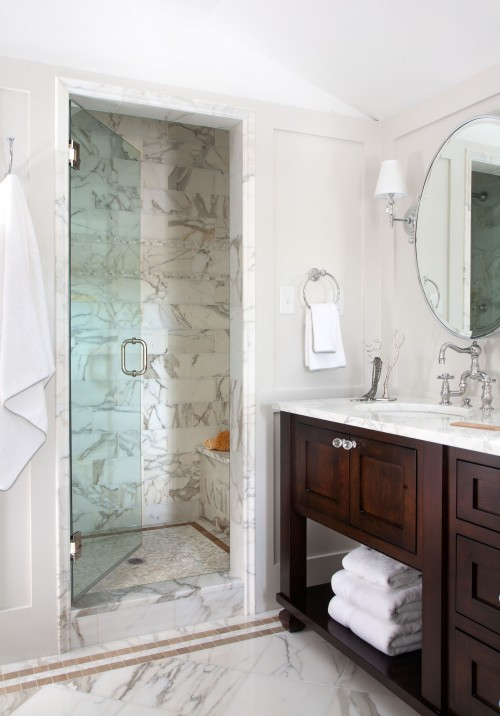 Walnut Double Vanity  Traditional  bathroom  Chalet Development