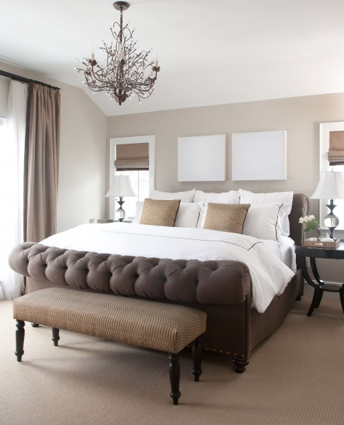 beige walls transitional bedroom