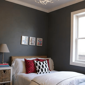 Charcoal Gray Walls  Design decor photos pictures ideas inspiration paint colors and remodel