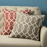 Embroidered Diamond Links Pillow Cover | west elm