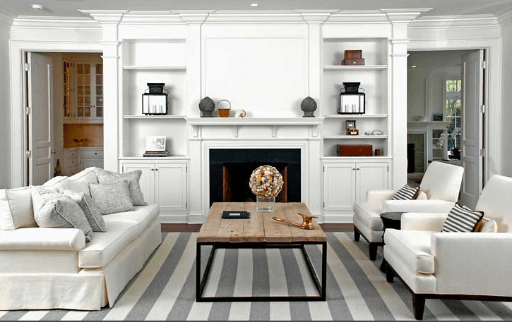 grey rug living room silver mirrors for gray striped cottage brooks falotico