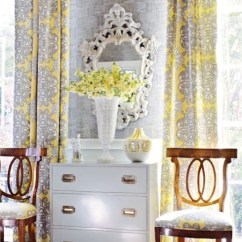 Grey And Yellow Curtains For Living Room Good Paint Colors Gray French Thibaut Design