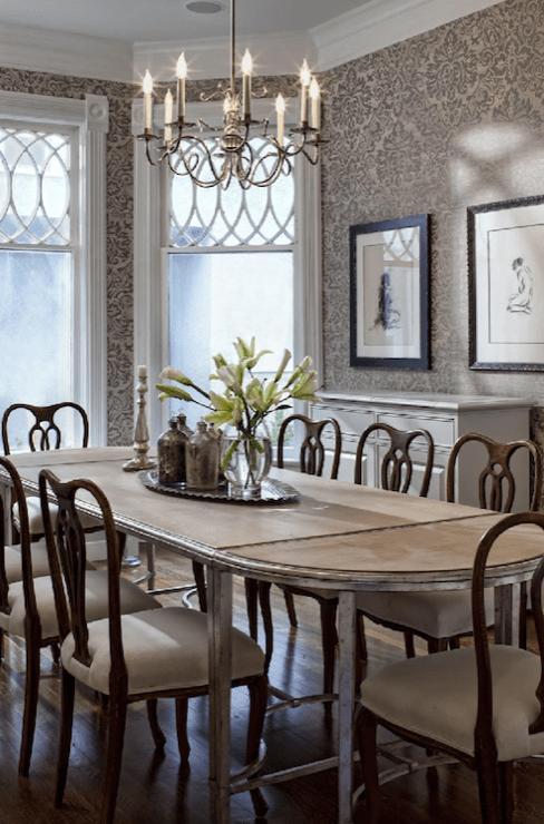 Swedish Chairs  Transitional  dining room  Buckingham