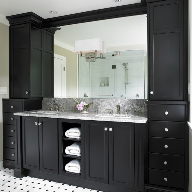 Black Bathroom Vanity Design Ideas