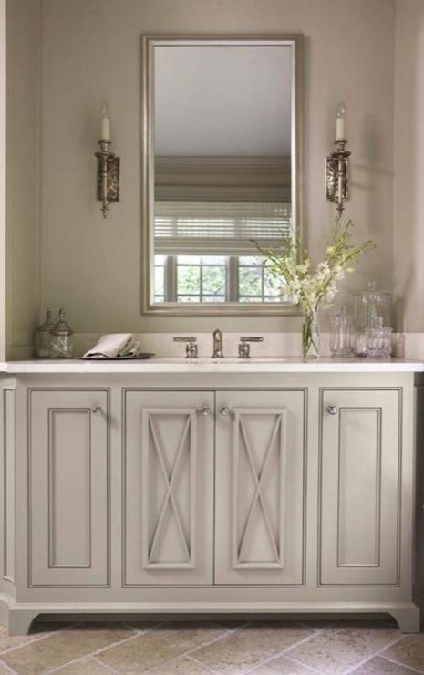 Grey Bathroom  French  bathroom  Linda McDougald Design