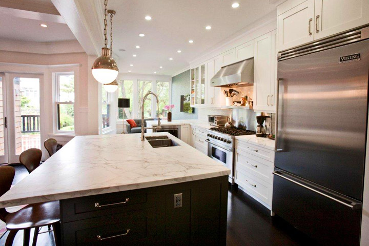 viking kitchens assembled kitchen cabinets honed calcutta marble countertops - contemporary ...