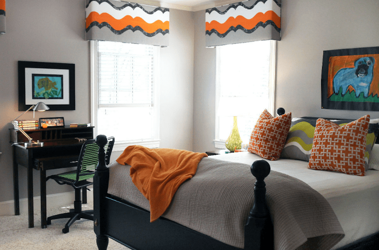 Orange Pillows Design Ideas