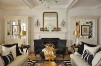 Mirrored Armoire - French - living room - Megan Winters